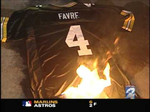 buy popular 5659e 457e0 Favre Jersey Burn