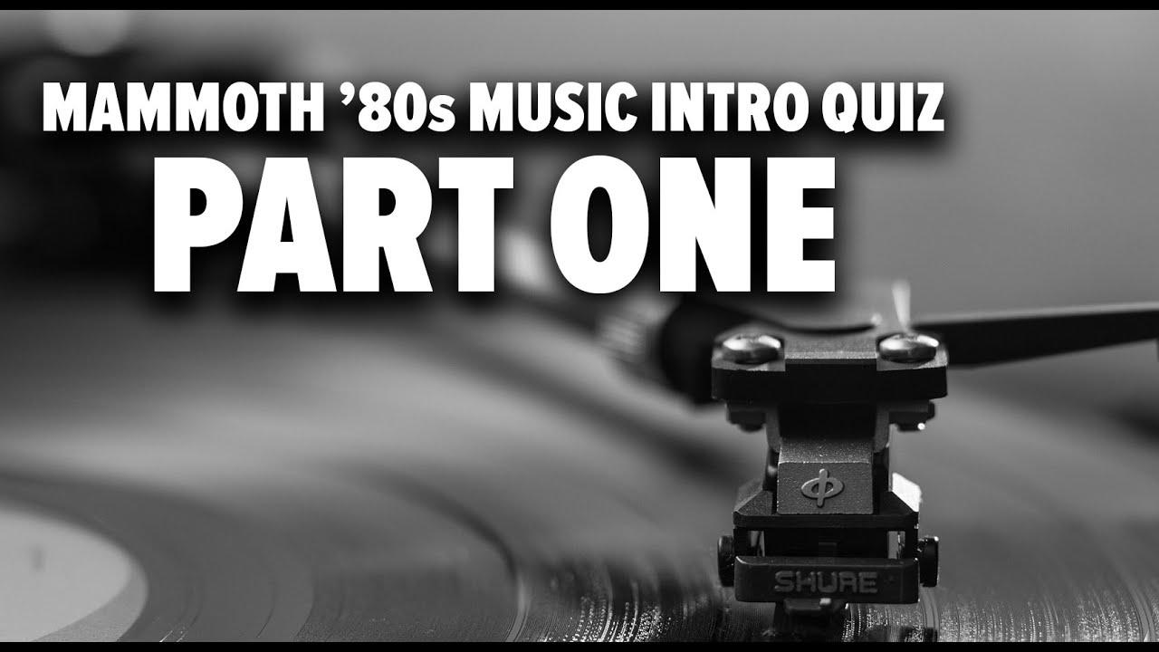 Mammoth 80s Music Intro Quiz Part 1 Youtube