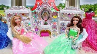 Princess Barbie Belle Rapunzel Jewelry Castle Accessory Dress