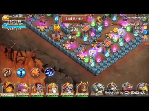 Castle Clash Insane Dungeon 2-1 3 Flame FTP Acount