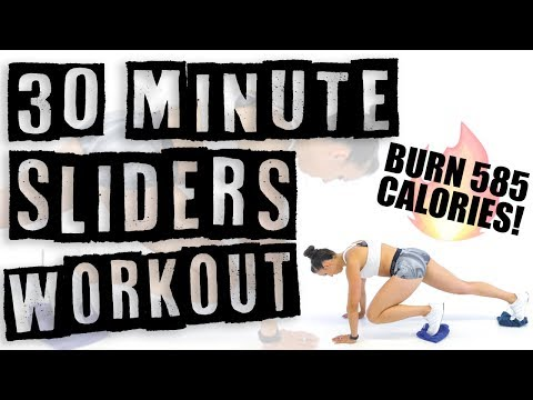 30 Minute Sliders Workout ��Burn 400 Calories! ��
