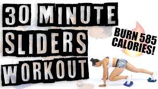 30 Minute Sliders Worĸout 🔥Burn 400 Calories! 🔥