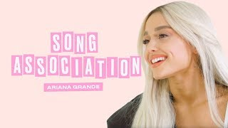 vuclip Ariana Grande Premieres a New Song from Sweetener in a Game of Song Association | ELLE
