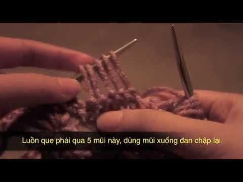 Hướng dẫn cách đan len hoa cúc