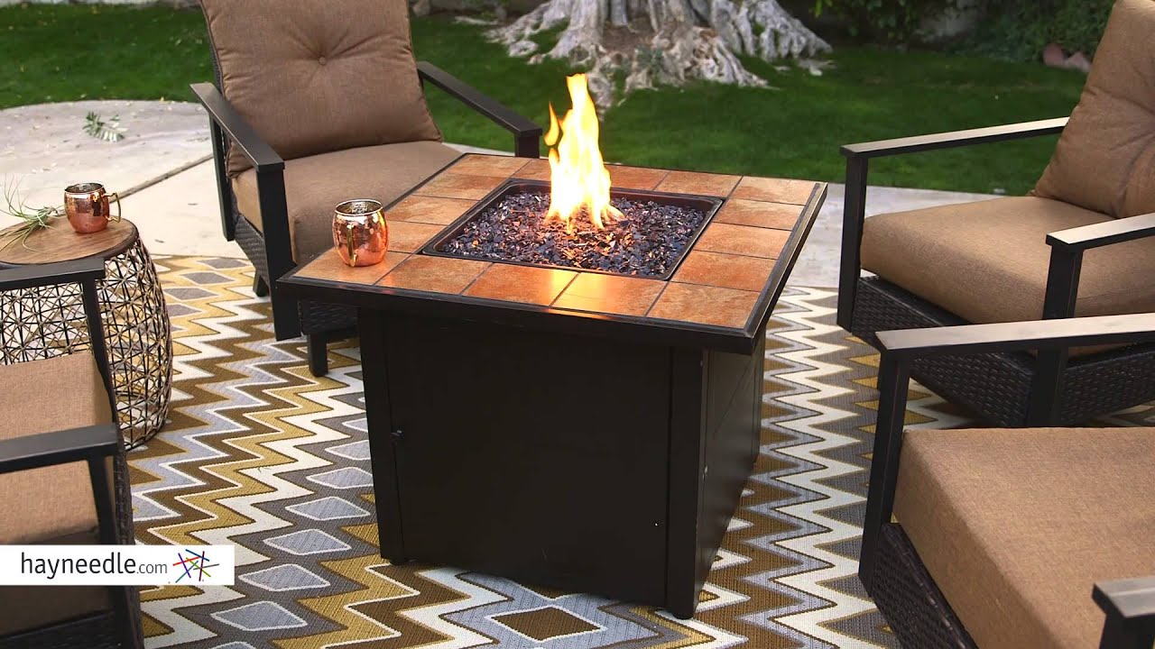 Merveilleux UniFlame Ceramic Tile Propane Fire Pit   Slate   Product Review Video    YouTube