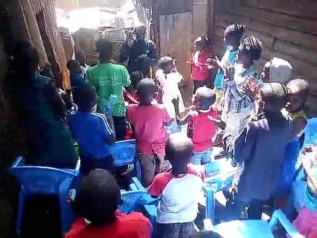 William Leading Children's Worship - God Your So Good - Kibera Slum Fellowship 1-27-2019