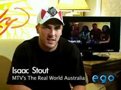 Isaac Stout from the Real World Australia Ego TV Shout Out ...