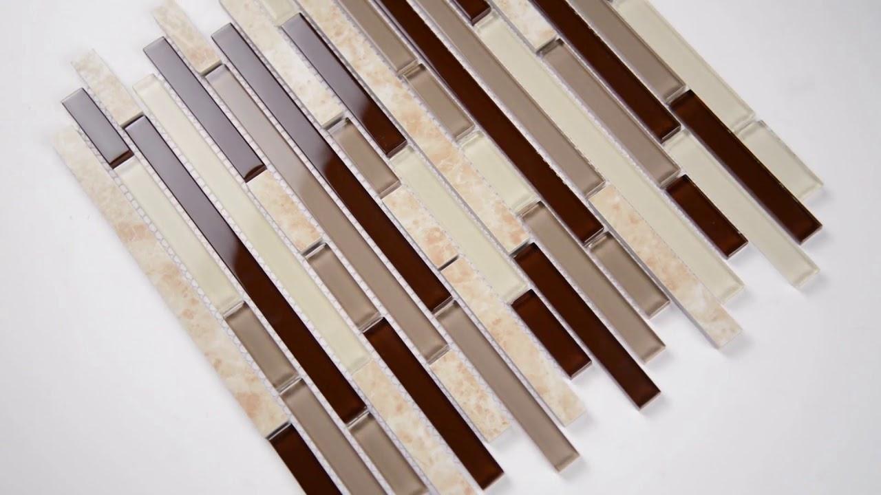amalfi cafe interlocking 6mm glass wall tile 101415423
