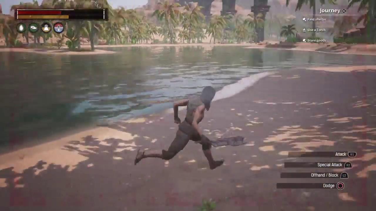 Conan Exiles PS4 Gameplay - YouTube