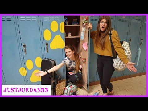 What's In My School Locker? End Of Year Messy Locker Cleanout / JustJordan33