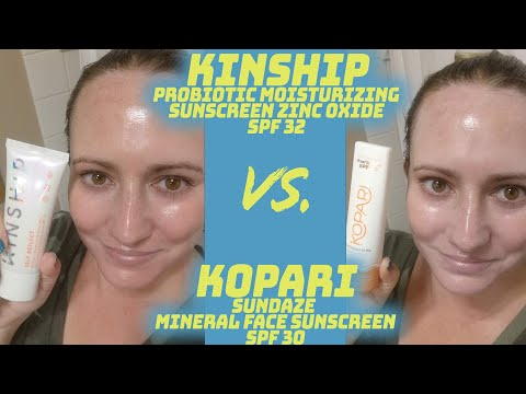 Kinship Self Reflect Probiotic Sunscreen SPF 32 🆚🌞VS Kopari Sundaze Mineral Face Sunscreen SPF 30