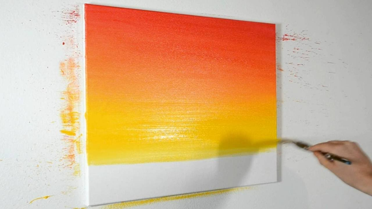 how to blend acrylic paints narrated demonstration youtube