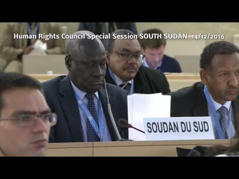 South Sudan UN Human Rights Council Special Session