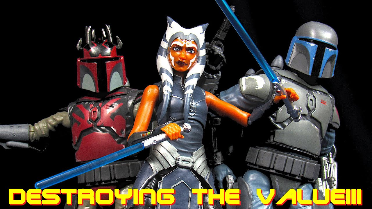 Star Wars: The Black Series Mandalorian Loyalist, Super Commando, Ahsoka Tano - Destroying The Value