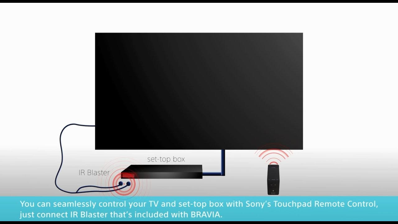 medium resolution of sony bravia how to control your tv with set top box cable box