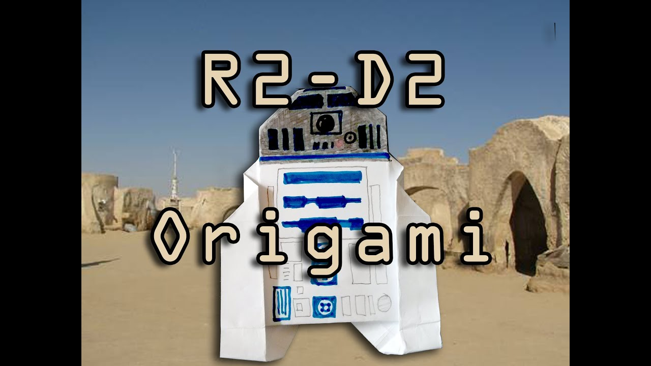 Star Wars R2 D2 Origami Tutorial Difficulty 410