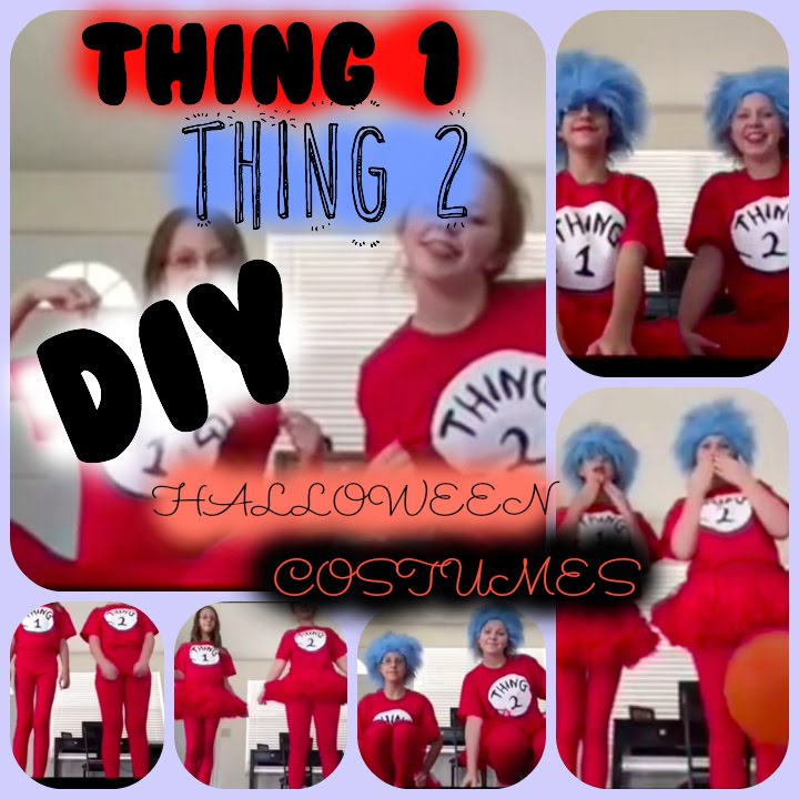 diy thing 1 thing 2 halloween costumes - Thing 1 Thing 2 Halloween Costume