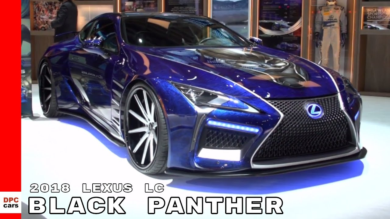 Black Panther 2018 Lexus Lc Will Be Featured At Super Bowl