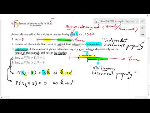 2102203 Probability 31 (Lecture on Poisson Process Part 1: Definition)