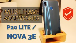 Huawei P20 Lite Must Have Accessories || Unboxing and Review - Screen Protector and Case for Nova 3e