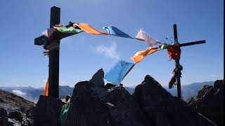 Prayer Flags Mont Valier Summit