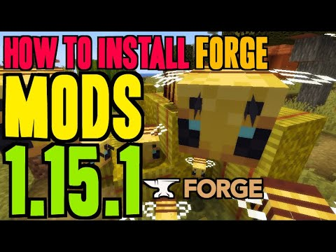 How To Install Mods In Minecraft 1.15.1 - Download And Install Forge 1.15.1 & Mods (on Windows)