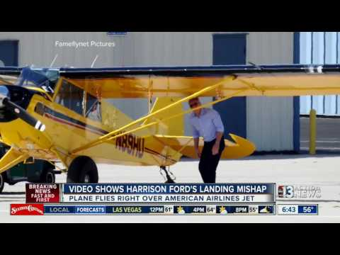 Video released of Harrison Ford's close call