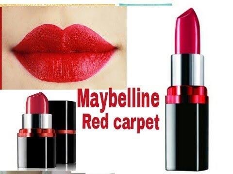5da50f3f4 Bridal के लिए Best Red carpet Lipstick Maybelline colour show ll कया ये सच  मे दूलहन के लिए सही है