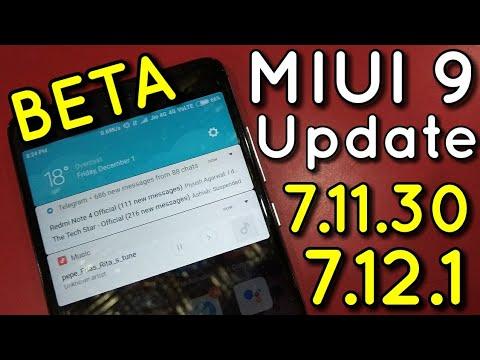 Miui 9 Beta 7.11.30 & 7.12.1 Update | New Notification Bar | Badhiya Update | Hindi - हिंदी