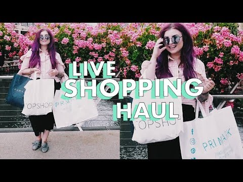 LIVE SHOPPING HAUL - COME SHOPPING WITH ME!!