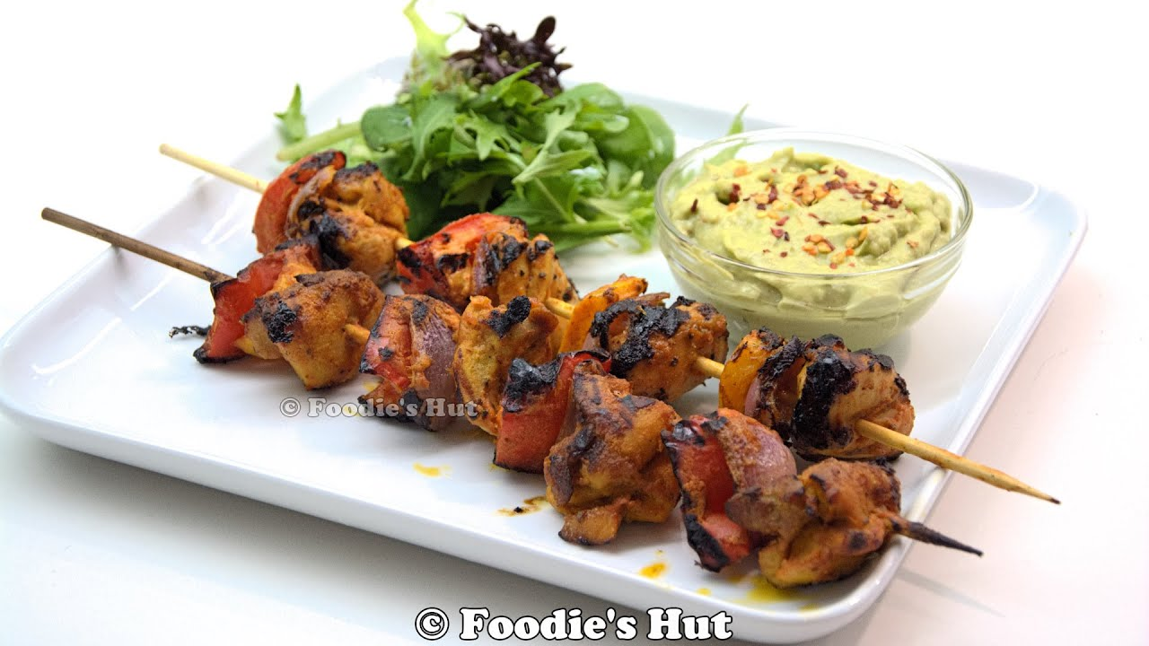 GRILLED CHICKEN TIKKA KABAB (cooked On Indoor Grillpan)   Recipe By  Foodieu0027s Hut #0124   YouTube