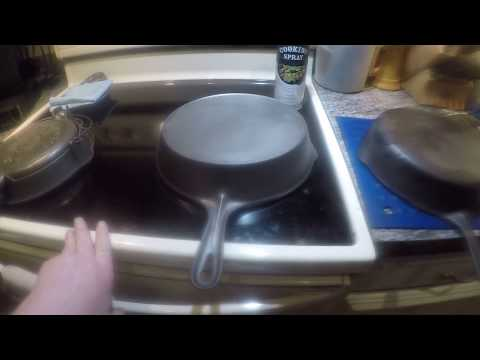 Rare Cast Iron Waffle Iron, #8 Vollrath & #8 Wagner Cast Iron Skillets  - How Did They Clean Up?