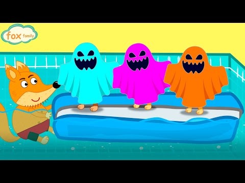 Fox Family And Friends Swimming Pool Adventure - Cartoon For Kids New Funny Episode #843