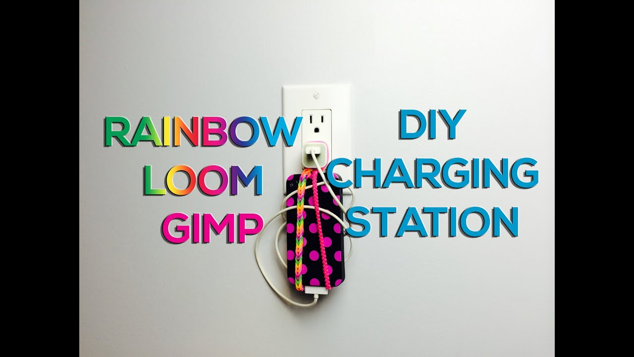 Rainbow Loom Amp Gimp Phone Holder Diy Charging Station