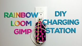 Rainbow Loom & Gimp Phone Holder - Diy Charging Station Life Hack