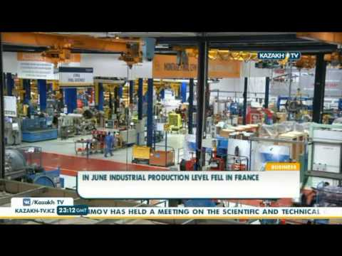 In June industrial production level fell in France - Kazakh TV