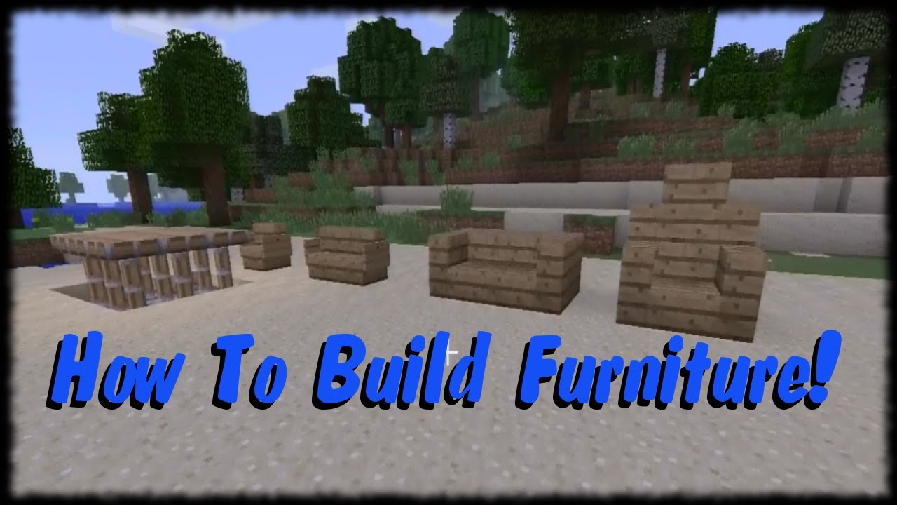 Minecraft Xbox 360 Tutorial How to Make Furniture!