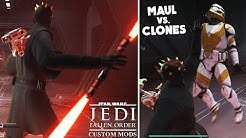 Star Wars Jedi: Fallen Order - Play as DARTH MAUL and SAVAGE OPRESS vs Clones with these Custom Mods