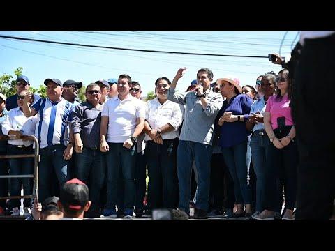"""afpes: Marcha en Honduras en apoyo a presidente señalado como """"narco"""" por EEUU   AFP"""