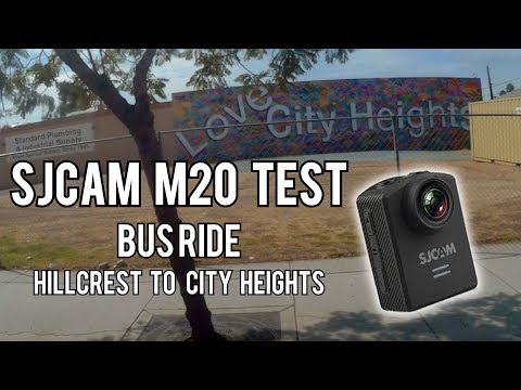 SJCAM M20 Test | Bus Ride from Hillcrest to City Heights, San Diego