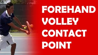 Contact Point On Volley   VOLLEY