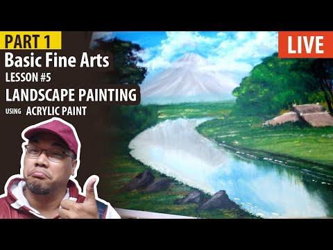 Part 1: Basic Fine Arts: Landscape Painting using Acrylic