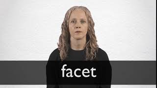 How to pronounce FACET in British English