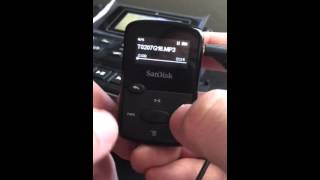 How to use Sandisk Clip Jam MP3 player