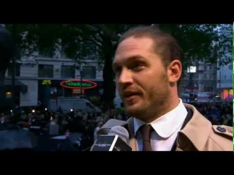 Tom Hardy at the London premiere of The Dark Knight Rises