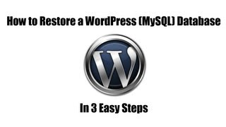 How to Restore WordPress Database from Backup