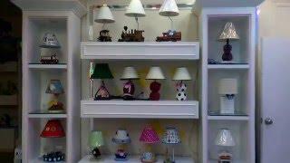 Kids lamps, childrens bedside lighting baby nursery table lamp