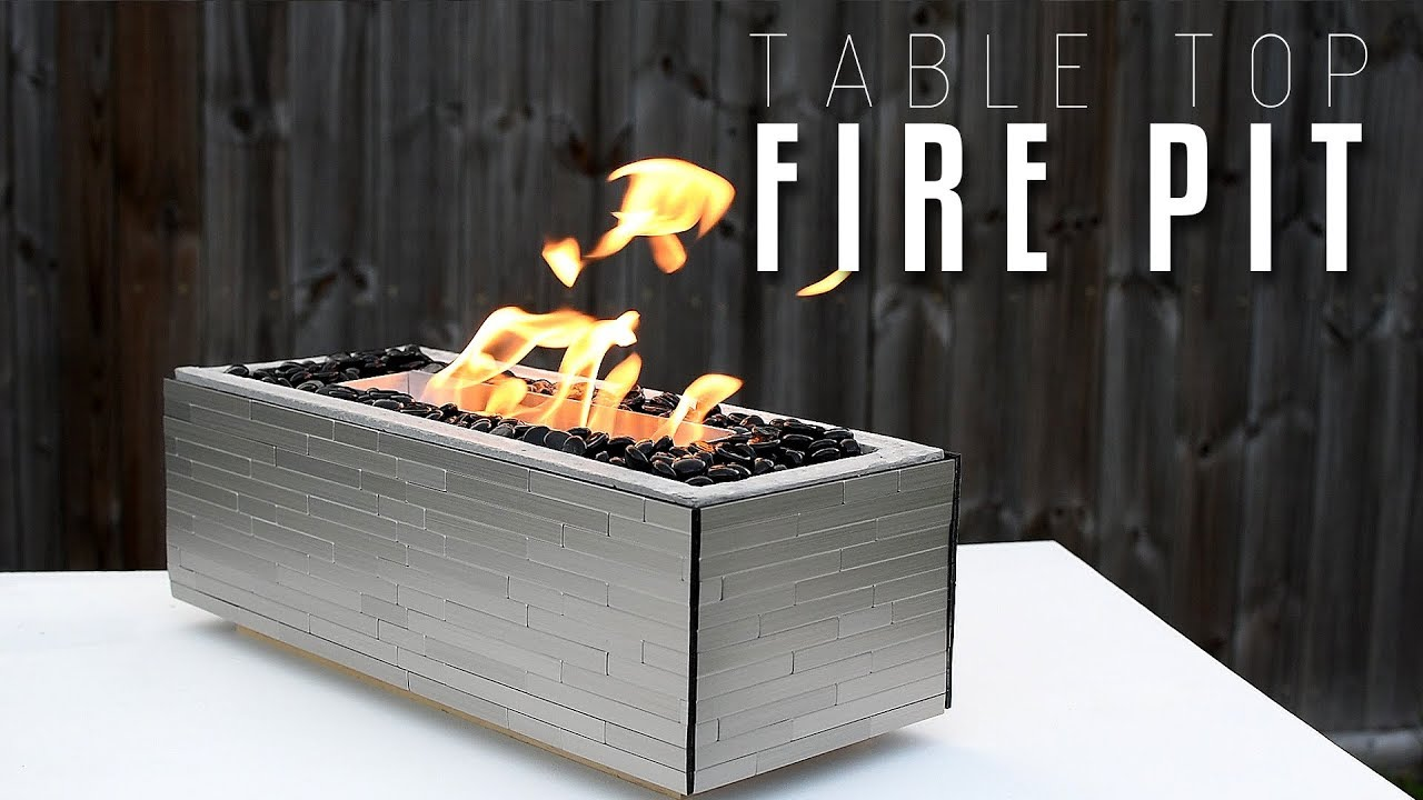 Making A Table Top FIRE PIT. DIY Creators