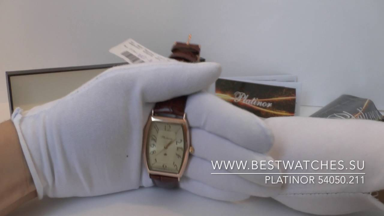 7bb8515a3d88 Золотые часы Платинор 54050.211 - YouTube