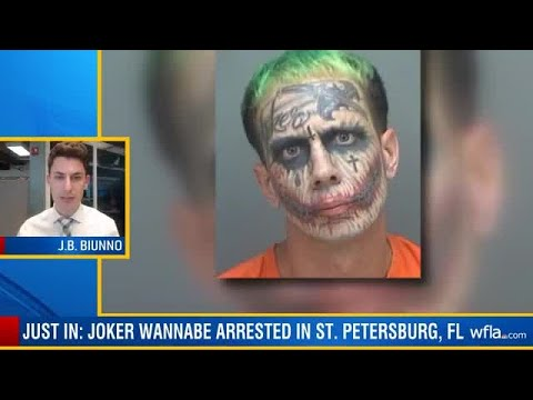 Man With Joker Face Tattoo Arrested In Florida
